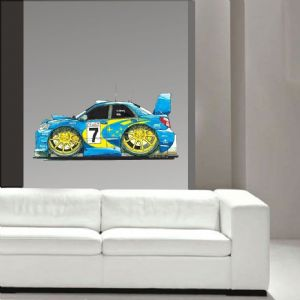 Koolart Large 70cm Subaru Impreza Sti WRX Rally Wall Art